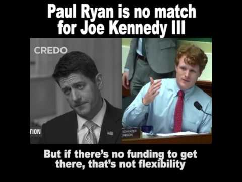 Paul Ryan is no match for Joe Kennedy III