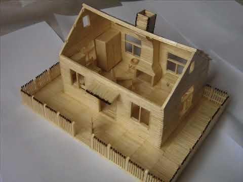 Domek z zapałek / Match house