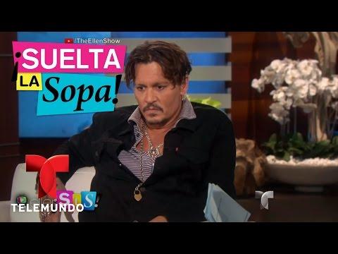 Johnny Depp no oculta su gusto por besar hombres | Suelta La Sopa | Entretenimiento