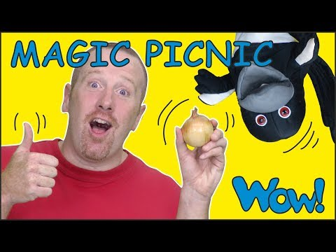Magic Picnic Food Story for Kids from Steve and Maggie | Free Speaking Wow English TV