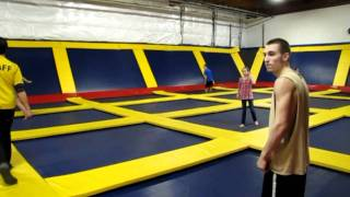 more insane trampoline jumps and tricks at sky high sports in portland
