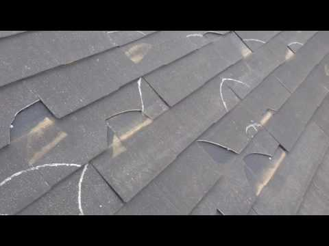 屋根修理 スレート屋根材のひび割れ部分葺き替え修理、横浜市、川崎市、横須賀市、東京都、町田市、相模原市 - YouTube