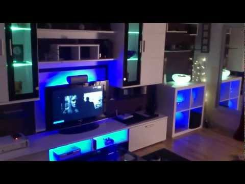 Ikea Expedit LED Dioder  Living Gaming Room Wohnzimmer