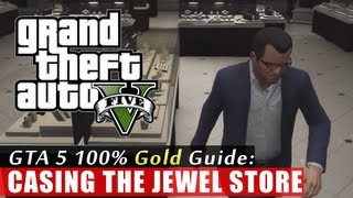 GTA 5 Walkthrough: Casing the Jewel Store (100% Gold Completion) HD