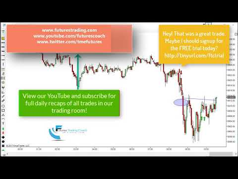 081517 –Trade of the Day – Nasdaq /NQ UT Short Winner up to 80 ticks!