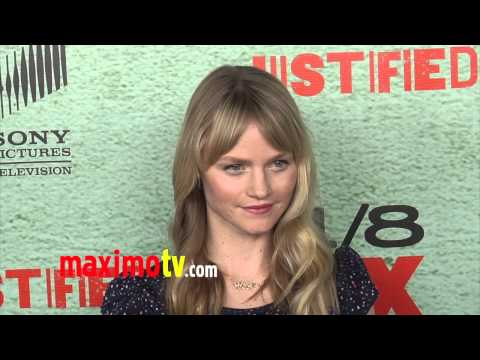 Lindsay Pulsipher JUSTIFIED Season 4 Premiere Red Carpet Arrivals January 2013