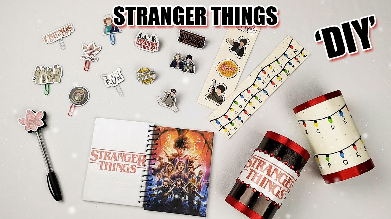 Stranger Things Diy Material Escolar Carol Helm Youtube
