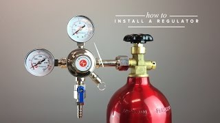 how to set up a draft beer regulator to a co2 tank