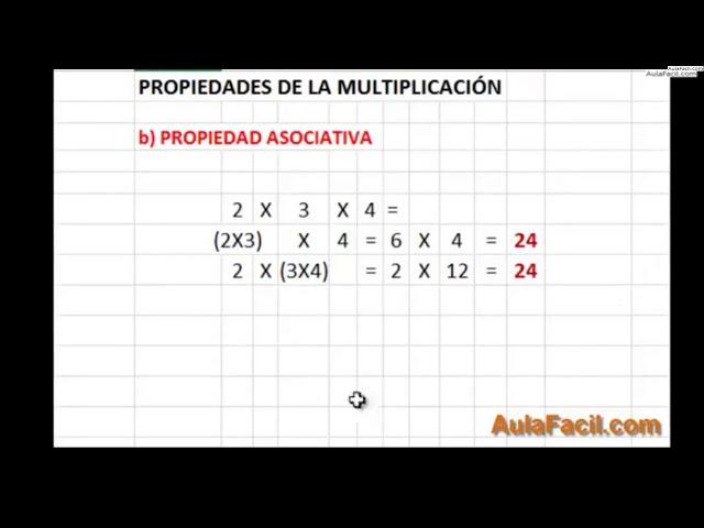 ⏩Propiedades de la Multiplicación - Matemáticas Primero ESO ...