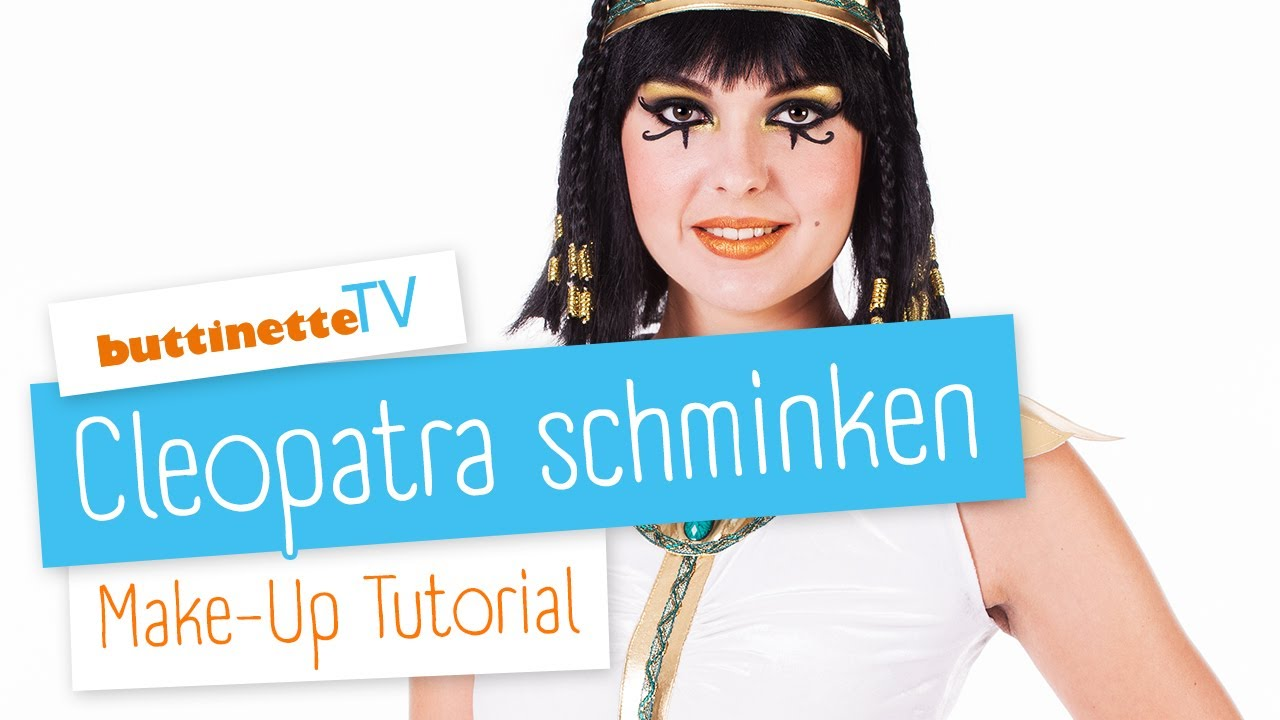 Schminkanleitung Cleopatra Buttinette Karneval Shop