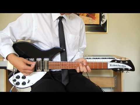The Beatles - Twist and Shout - Rhythm Guitar Cover - Rickenbacker 325C64