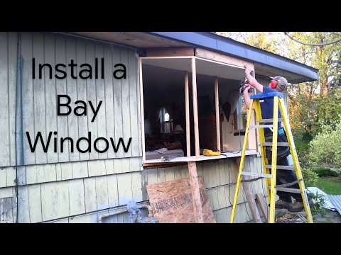how to install a window how to build a bay window for 500 with jim youtube. Black Bedroom Furniture Sets. Home Design Ideas