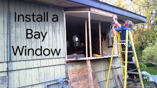 http://www.ifoundjim.com/ How-to Video Series of How to Install a Window and How to Build and Install a Bay Window for just $500