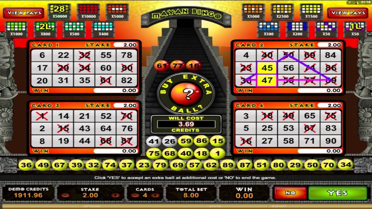 Slot machines based on bingo cards casino united states