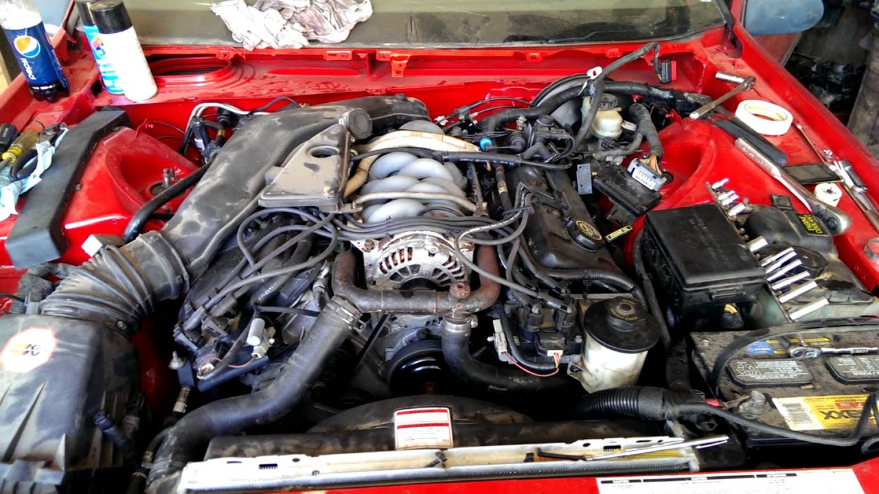32v Thunderbird Engine Swap From Lincoln Mark Viii Youtube
