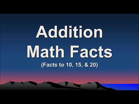 Addition Math Facts to 20