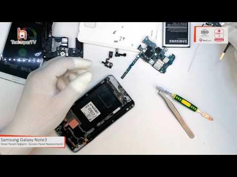 Samsung Galaxy Note 3 Ekran Panel Değişimi / Screen Panel Replacement