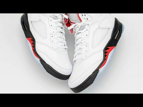 "2020's Nike Air Jordan 5 ""Fire Red"""