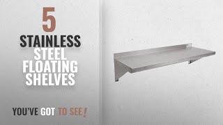 Top 10 Stainless Steel Floating Shelves [2018 ]: John Boos EWS8-1236 Stainless Steel Standard Wall