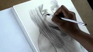Artistic Drawing Practices -WATER SOLUBLE GRAPHITE PORTRAIT-