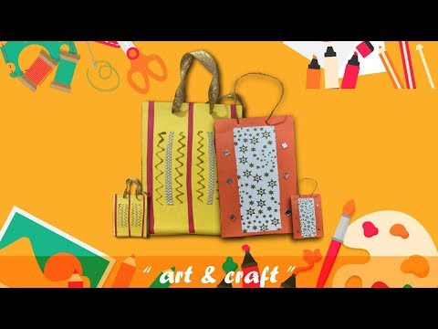 Paper bag | Paper Gift Bag | How to make beautiful paper gift bag | DIY Paper bag with color sheet