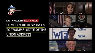 Fact-checking the Democratic responses to Trump's State of the Union Address
