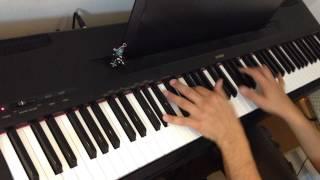 Chris de Burgh - Broken Wings - piano version (with cat cameo!)
