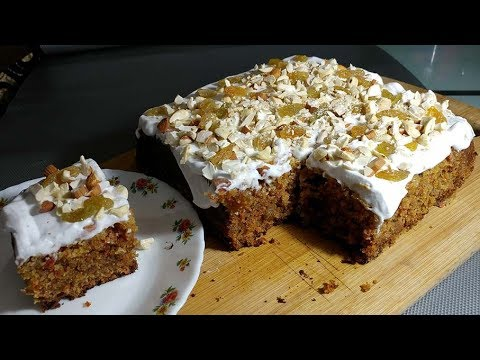 Healthy Carrot Cake Recipe (Hindi ) / Soft And Moist / English Recipe