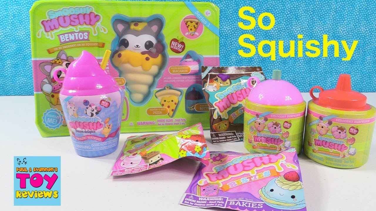 Smooshy Mushy Squishies Surprise Present Unboxing Scented Toy Review PSToyReviews - YouTube