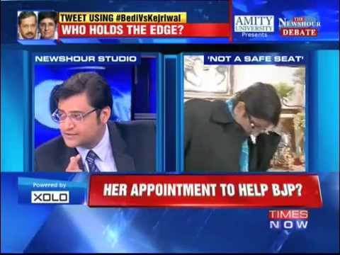 KIran Bedi Left Interview with Arnab Goswami