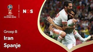 WK Voetbal 2018: Samenvatting Iran - Spanje (0-1)
