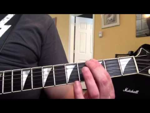 How to play Fallen Leaves by Billy Talent on guitar part 2