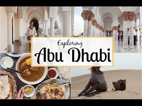 Exploring Abu Dhabi! Dune Bashing in the Desert, The Grand Mosque & More!