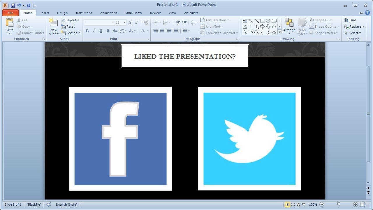 Add Social Sharing inside PowerPoint Presentations