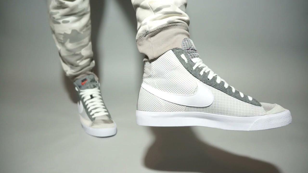 Nike Blazer Mid '77 Patch DD1162-001 on feet
