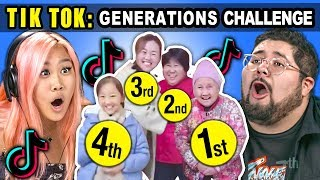 Generations React To TIK TOK Challenge: Chinese Generations Memes