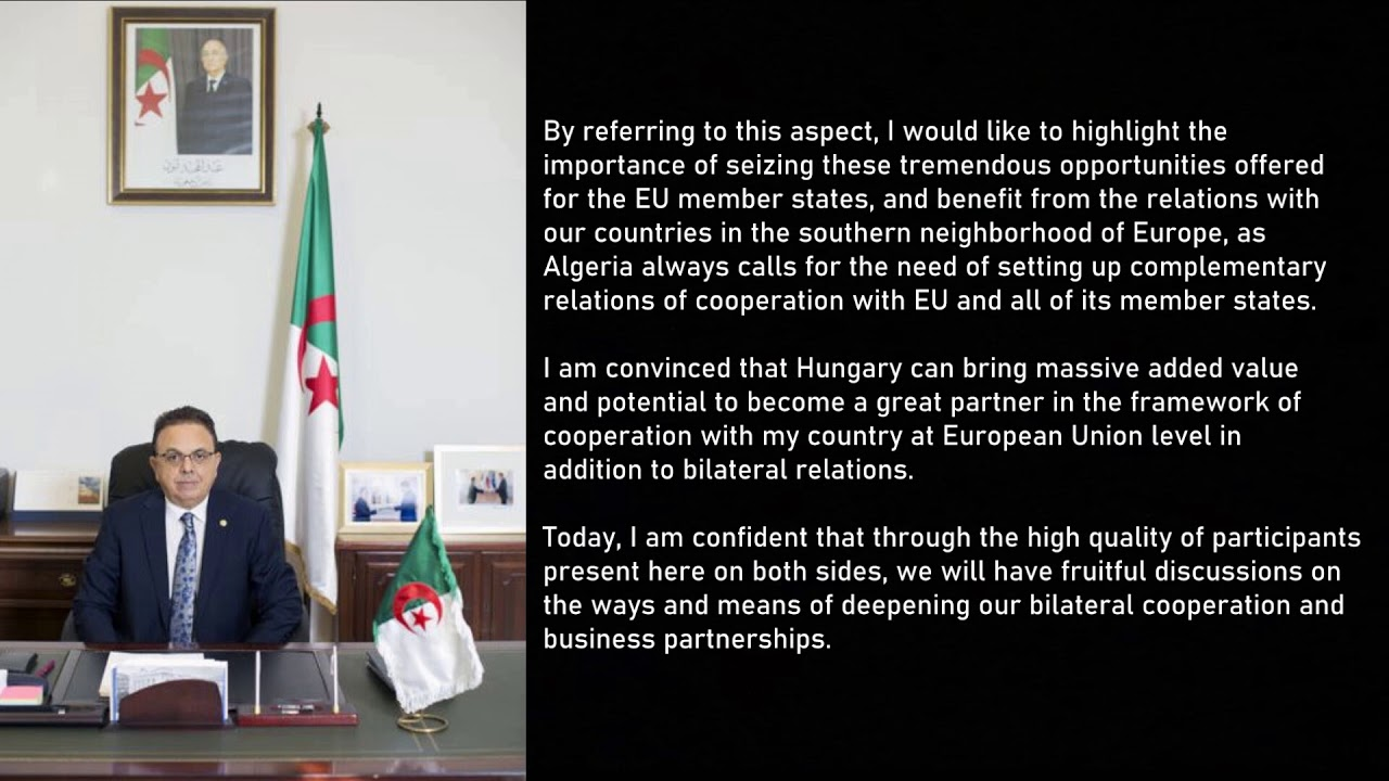 Virtual Meeting of the Algerian-Hungarian Business Council