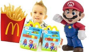 Super Mario e Le Super Sorprese Del McDonald's - Merenda Golosa Con Gli Happy Meal