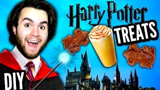 DIY Edible Harry Potter Treats! | How To Make Butterbeer & Chocolate Frogs! | Wizard Food Tutorial!