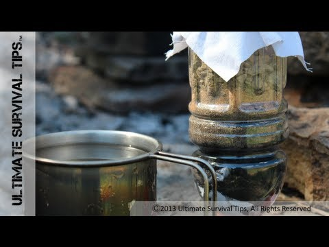 Make YOUR Survival Water Filter – Step-By-Step – Portable Emergency Water Filter DIY