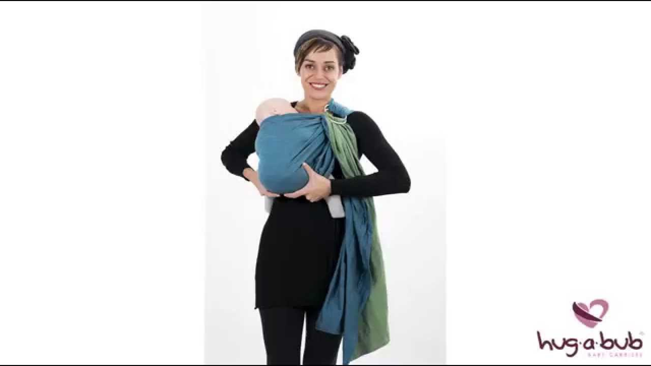 3 Of 3 Official Hugabub 2014 Ring Sling Carrier Instructions Youtube
