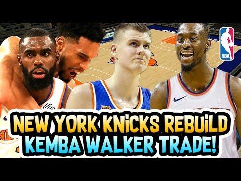 HUGE TRADE HAPPENING?! KEMBA WALKER NEW YORK KNICKS REBUILD! NBA 2K18 MY LEAGUE