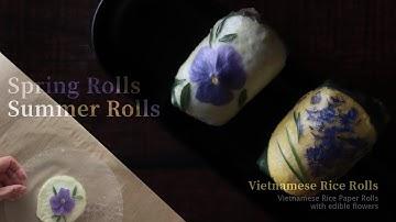 Pretty Spring Rolls Recipes | Edible Flowers Summer Rolls | 예쁜 월남쌈 만들기 | 꽃 스프링롤 만들기