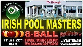 Irish Pool Masters 2018 - Day 2 Streamed Table by IPA, Gleneagle Hotel, Killarney