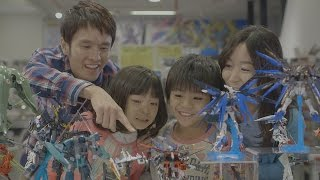 """Fun to build GUNPLA"" promotional video thumbnail"