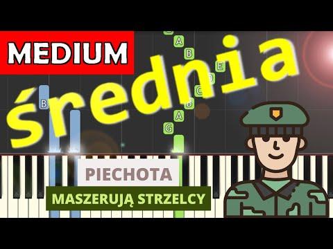 🎹 Piechota (pieśń patriotyczna) - Piano Tutorial (średnia wersja) 🎹