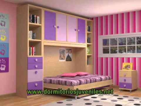 Habitaci n para ni as en muebles parchis youtube for Habitaciones de nina baratas