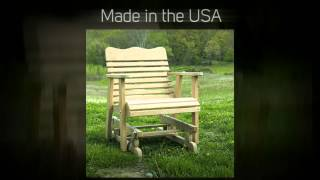 Amish Outdoor Furniture Colonial Glider Chair