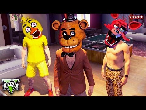 Five Nights At Freddy's GTA 5 Mini Game!! SCARY GTA 5 Online Game Mode (GTA 5 Funny Moments)