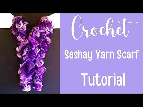 c4b235a42e9e7 How to Crochet a Red Heart Sashay Yarn Scarf Tutorial - Crochet Jewel -  YouTube